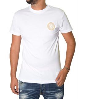 Tshirt Versace Jeans Couture blanc - 71GAHT10 - 71UP600 S Venblem S Embro blanc