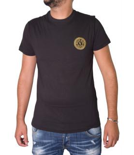 Tshirt Versace Jeans Couture noir - 71GAHT10 - 71UP600 S Venblem S Embro Noir