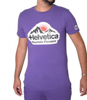 Tshirt HELVETICA purple-POST2 PURPLE