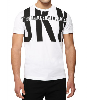 Tshirt Bikkembergs blanc et noir - C 4 101 55 E 2296 A00