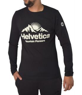 Tshirt Helvetica noir - EDMOND BLACK