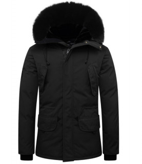 Blouson Helvetica noir - EXPEDITION BLACK