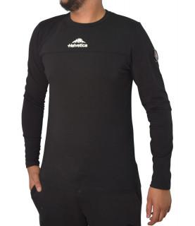 Tshirt Helvetica noir - MILES BLACK