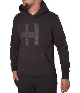 Sweat à capuche Helvetica noir - HALIFAX H340 BLACK