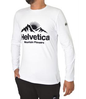 Tshirt Helvetica blanc - EDMOND WHITE