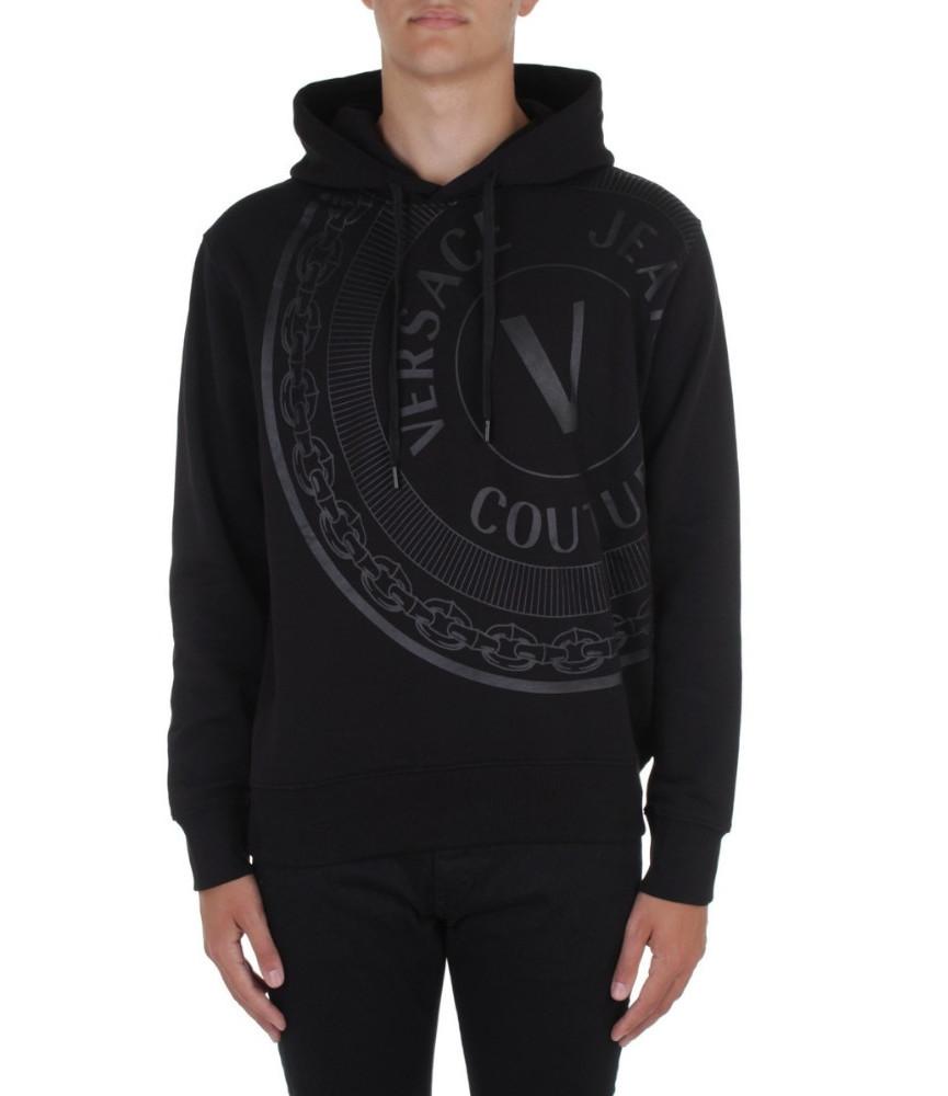 Sweat à Capuche Versace Jeans Couture noir - 71GAIT13 - 71UP306 REG CENTERED VEMB