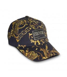 Casquette Versace Jeans Couture noir - 71GAZK18 - BASEBALL CAP WITH CENTRAL SE