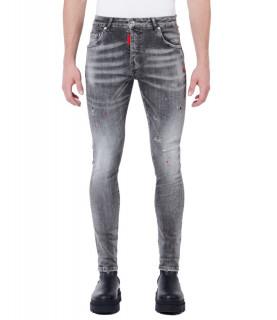Jeans My Brand gris - NEON ORANGE SPOTS