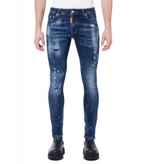 Jeans My Brand bleu - NEON ORANGE WASHED DENIM