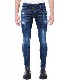 Jeans My Brand bleu - NEON YELLOW SPORTS DARK