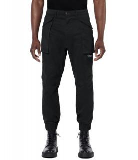 Pantalon My Brand noir - DUNDER BOLD POCKET CARGO