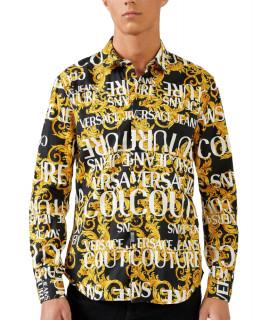 Chemise Versace Jeans Couture noir/jaune - B1GUA6S3