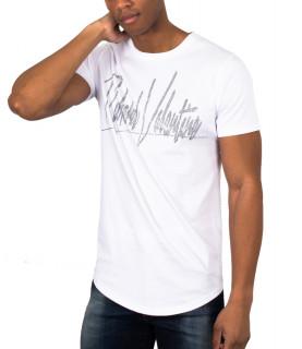 Tshirt strassé Richard Valentine blanc - S19T013C002