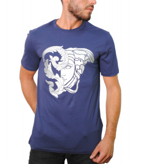 Tshirt Versace Collection bleu - V800683R VJ00612