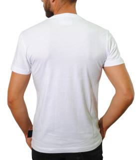 Tshirt Versace Jeans Couture blanc strass dorée - B3GUA7GA