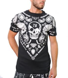 Tshirt Philipp Plein strass noir - FW16 HM341064
