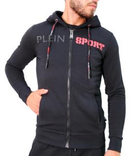 Sweat Plein Sport noir encapuchonné - P17C MJB0099 SJO001N