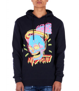 Sweat à capuche My Brand marine - SKULL GROUP 01 HOODIE