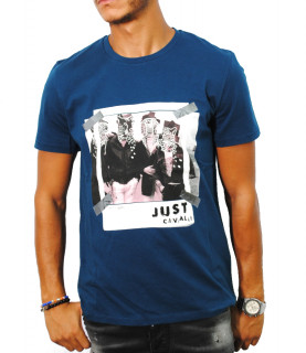 Tshirt Just Cavalli bleu - S03GC0498