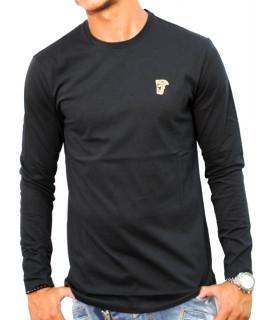 Tshirt manches longues Versace Collection noir - V800491R VJ00180 V9001