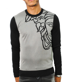 Sweat Versace Collection gris/noir - V700872VK00350 V2276