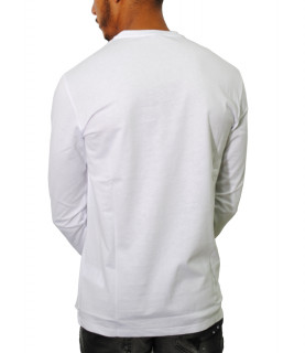 Tshirt manches longues Versace Collection blanc- V800491R VJ00180 V9001