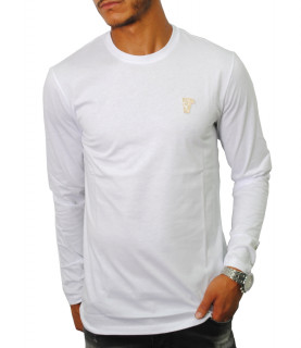 Tshirt manches longues Versace Collection blanc- V800491R VJ00180 V9001