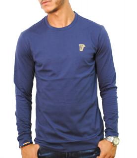 Tshirt manches longues Versace Collection bleu - V800491R VJ00180 V9001